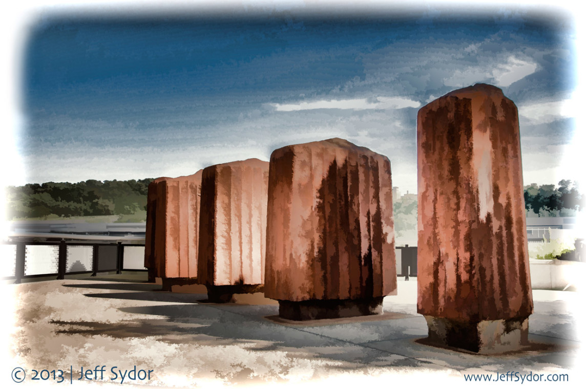 rusted pillars digital painting